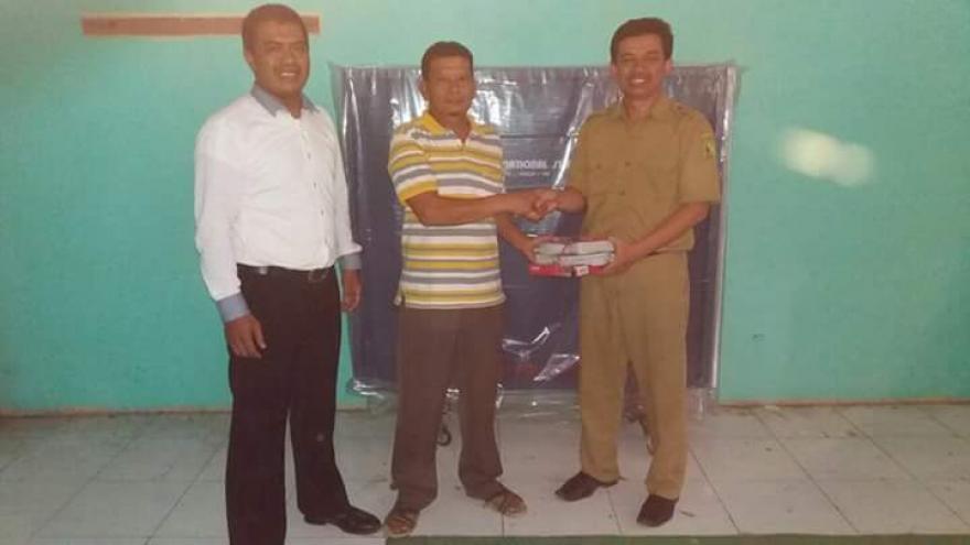 Silaturahmi & Sosialisasi penyerahan pemberdayaan bilang Olahraga 1 set Tenis Meja (ping-pong) dari